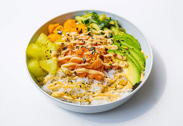 Losos poké bowl